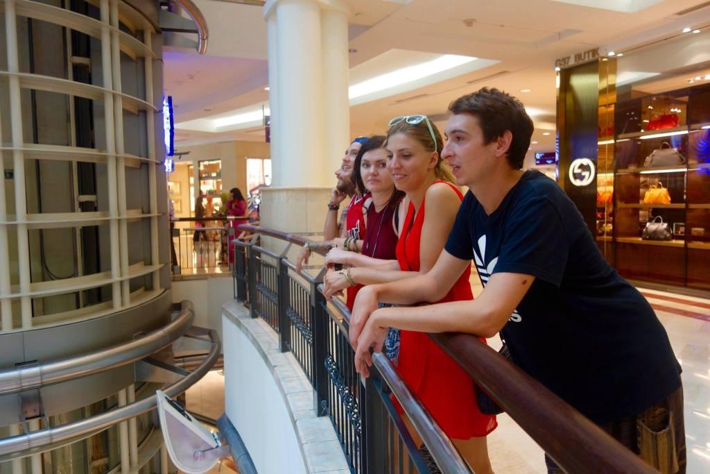 People in Kuala Lumpur mall