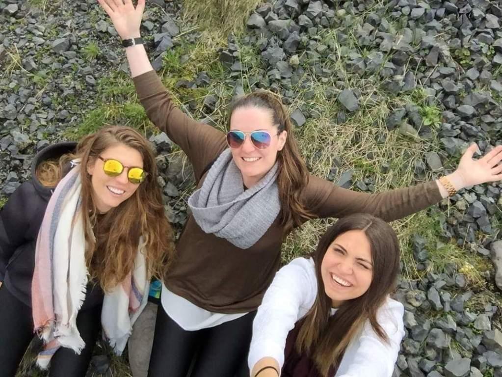 Taking selfies on Reykjavik Excursions bus tour