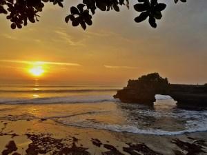 Beach sunset in Indonesia