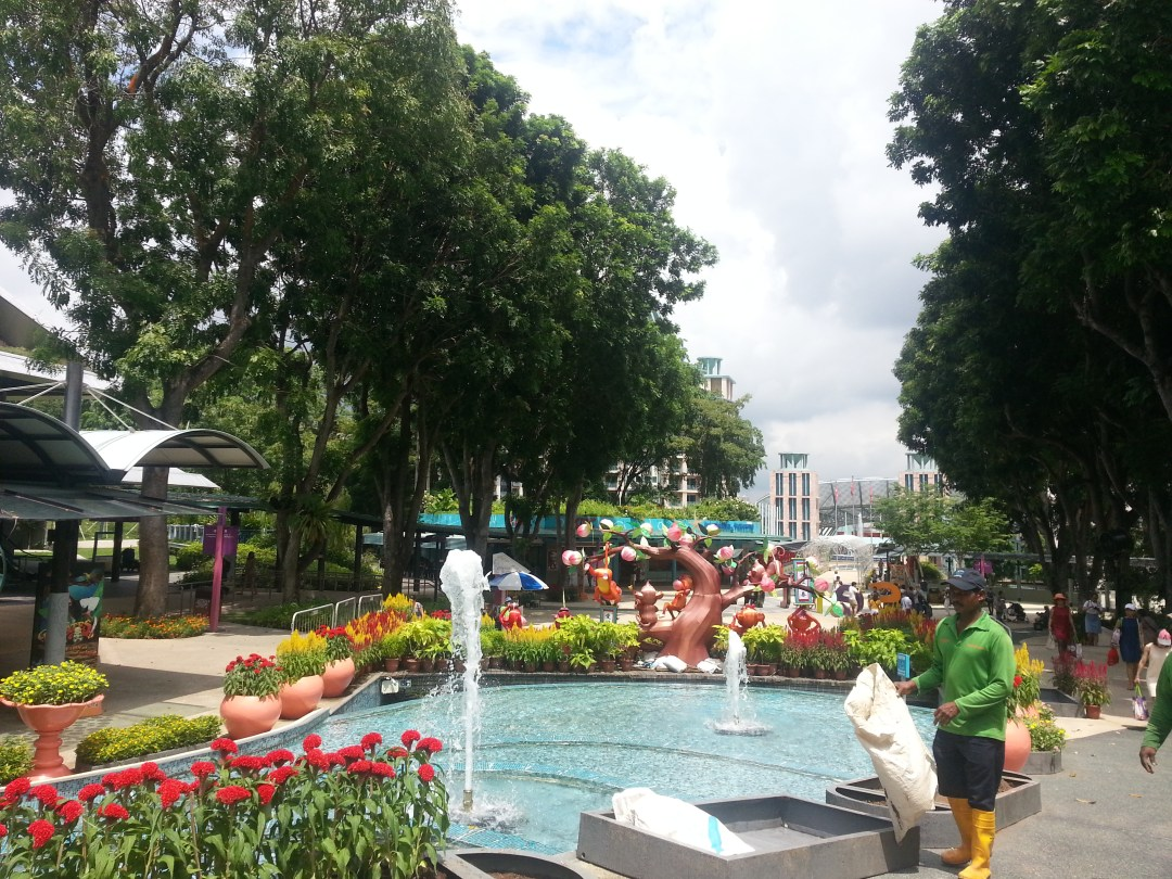 Man made theme park in Singapore