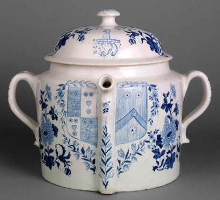 Posset pot made at Delftfield. Winterthur Museum.