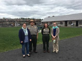 NMSC staff with FOST interpretive staff at Fort Stanwix National Monument.