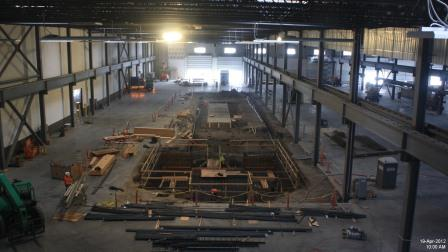 Interior shot of Farwest Steel during construction of their NMTC financed facility in Vancouver, WA