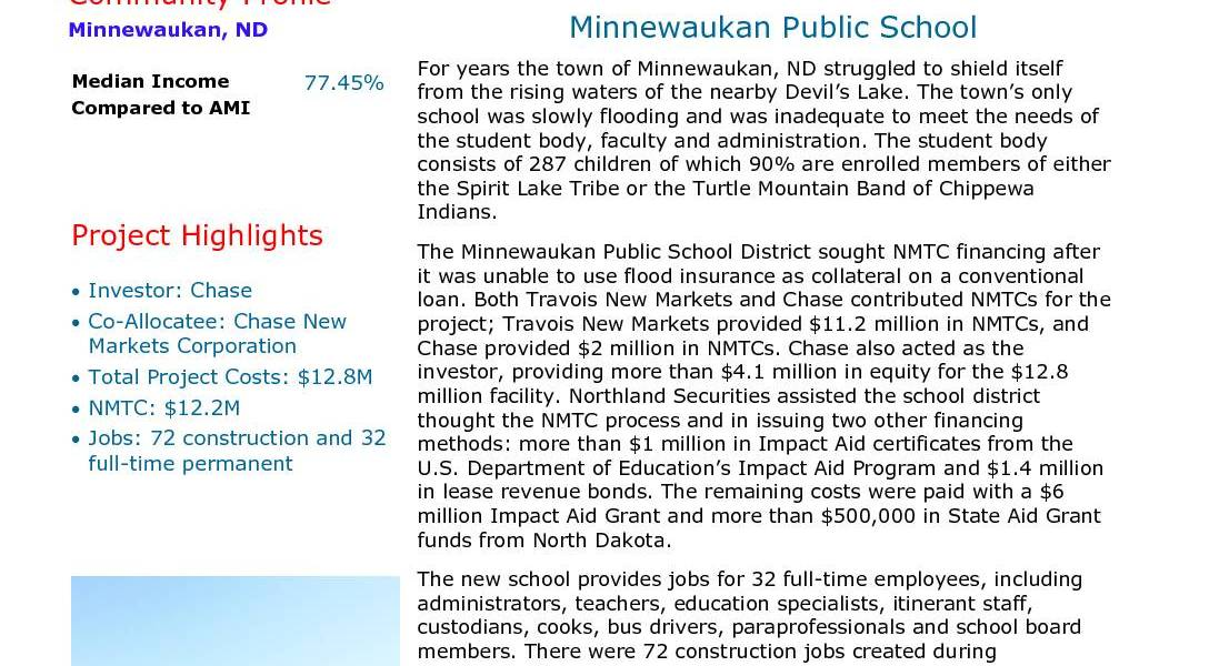 Minnewaukan Public School