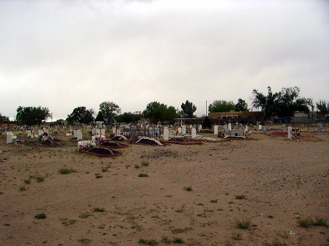 Isleta Pueblo Cemetery, Isleta Village Proper