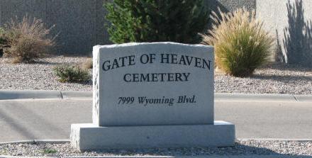 Gate of Heaven Cemetery, Albuquerque, Bernalillo County, New Mexico