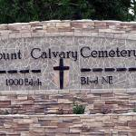 Mount Calvary Cemetery Sign