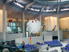 Inside view of the German Bundestag