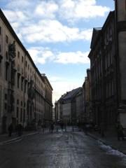 Windy European Alley