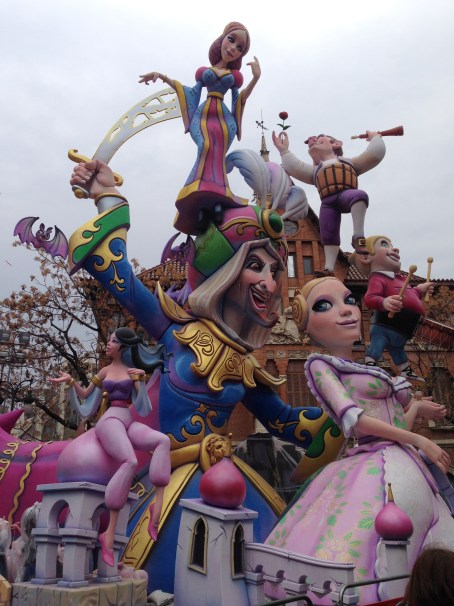 """The festival """"Las Fallas"""" takes it's name from these huge structures. One is called a """"falla."""""""