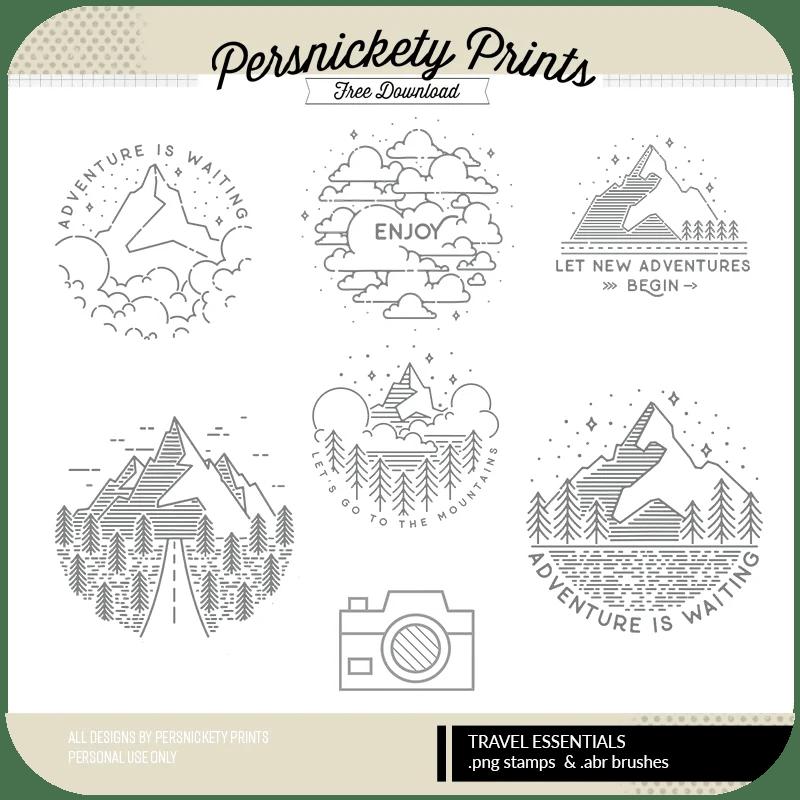 Persnickety Prints Freebie - Adventure