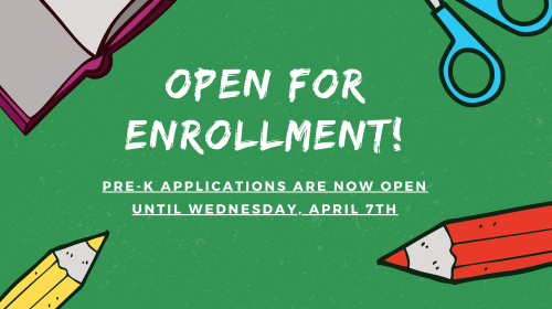 Pre-K Applications are Open