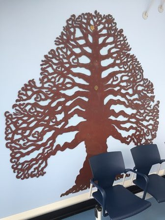 Leaf marking £1m donation placed on hospital Celebratory Tree