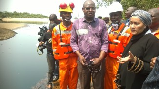 R-L: Minister of Environment, Minister of State for Environment