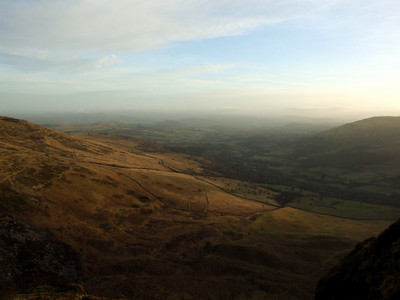 Glyn Tarell, looking towards the town of Brecon.  Arguably, the views were worth the early rise.