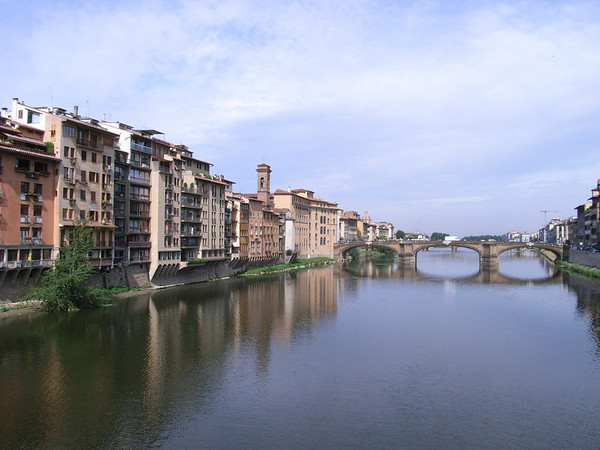 A postcard-esque picture if I say so myself: view of the River Arno from the Ponte Vecchio.