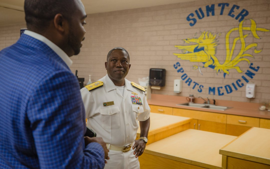 Navy Admiral Cedric Pringle Visits Hometown of Sumter