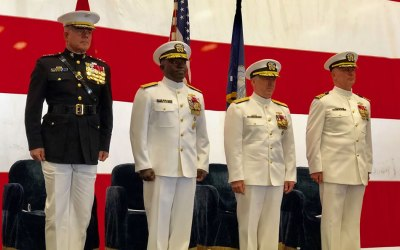 Expeditionary Strike Group 3 Conducts Change of Command Ceremony