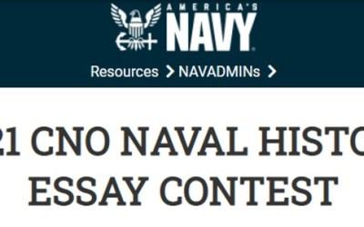 2021 CNO Naval History Essay Contest