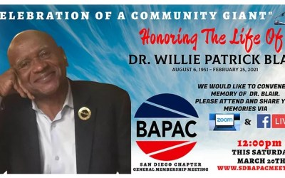 Honoring the life of Dr. Willie Patrick Blair – Past President of San Diego NNOA Chapter
