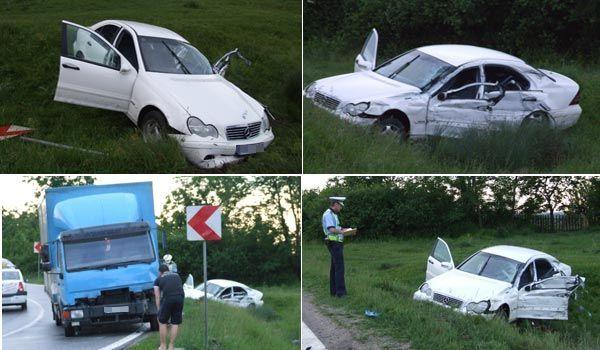 Doua masini s-au ciocnit la km 8