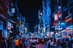 lights in Ho Chi Minh City