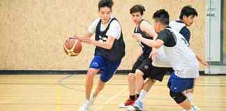 Jordan Balsillie a member of the spartans drives the lane during during a training camp at St. Pat's Gymnasium earlier this year. NNSL file photo