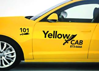 The new logo for the Yellowknife Cabs Ltd. Company that hopes to get on the road by April 1, should the company be able to install soft meters in their vehicles. They currently have 30 vehicles in waiting. Photo courtesy of Sibhat Berhane