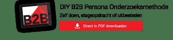 DIY B2B Persona Onderzoeksmethode