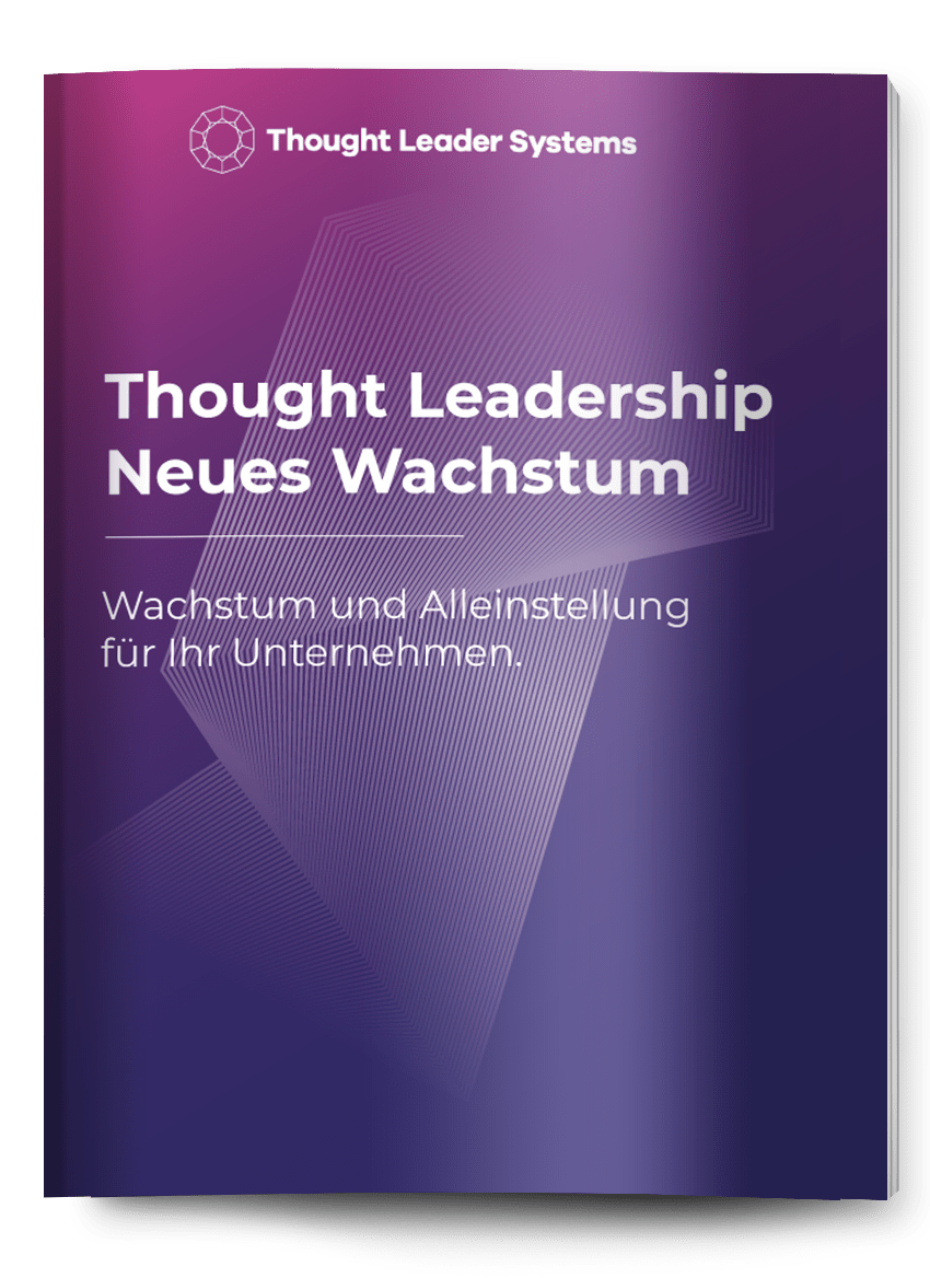 Markterfolg Thought Leadership eBook Cover Laptop