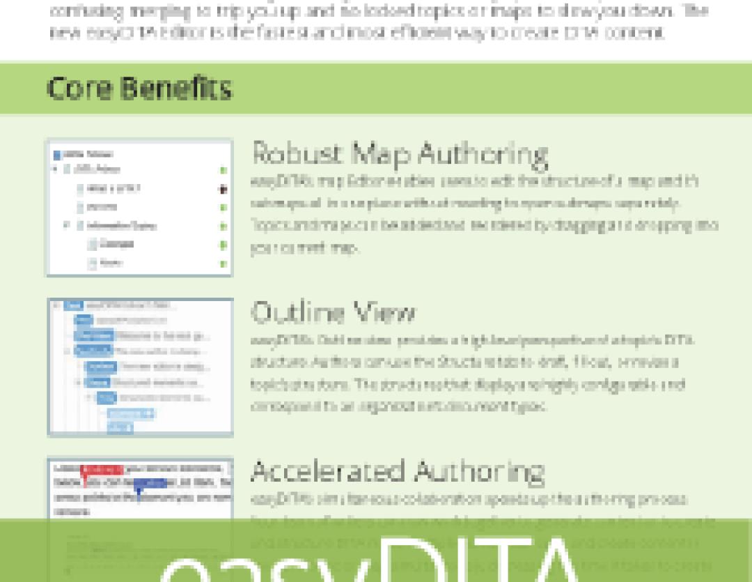 easyDITA Editor Info Sheet