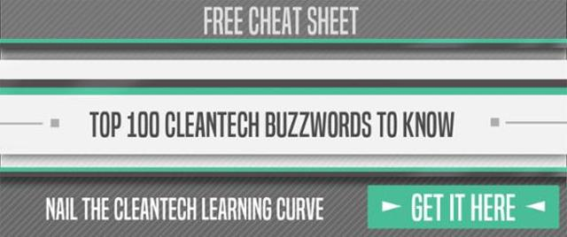 Download button to download cheatsheet for top 100 cleantech buzzwords
