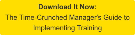 Download It Now: The Time-Crunched Manager's Guide to Implementing Training