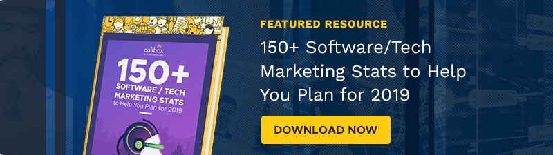 Download the 150+ Software / Tech Marketing Stats to Help You Plan for 2019 eBook