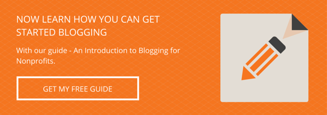 Download the guide - an introduction to blogging for nonprofits