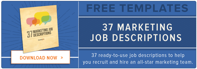 free marketing job description templates