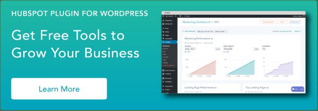 Wordpress Plugin HubSpot