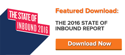 get the free 2016 state of inbound report