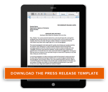 download free press release template