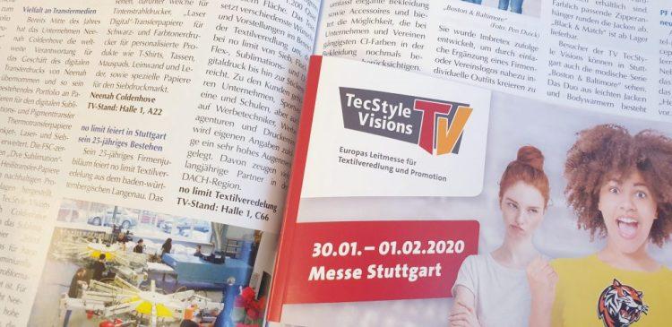 Wir sind Aussteller auf der TecStyle in Stuttgart