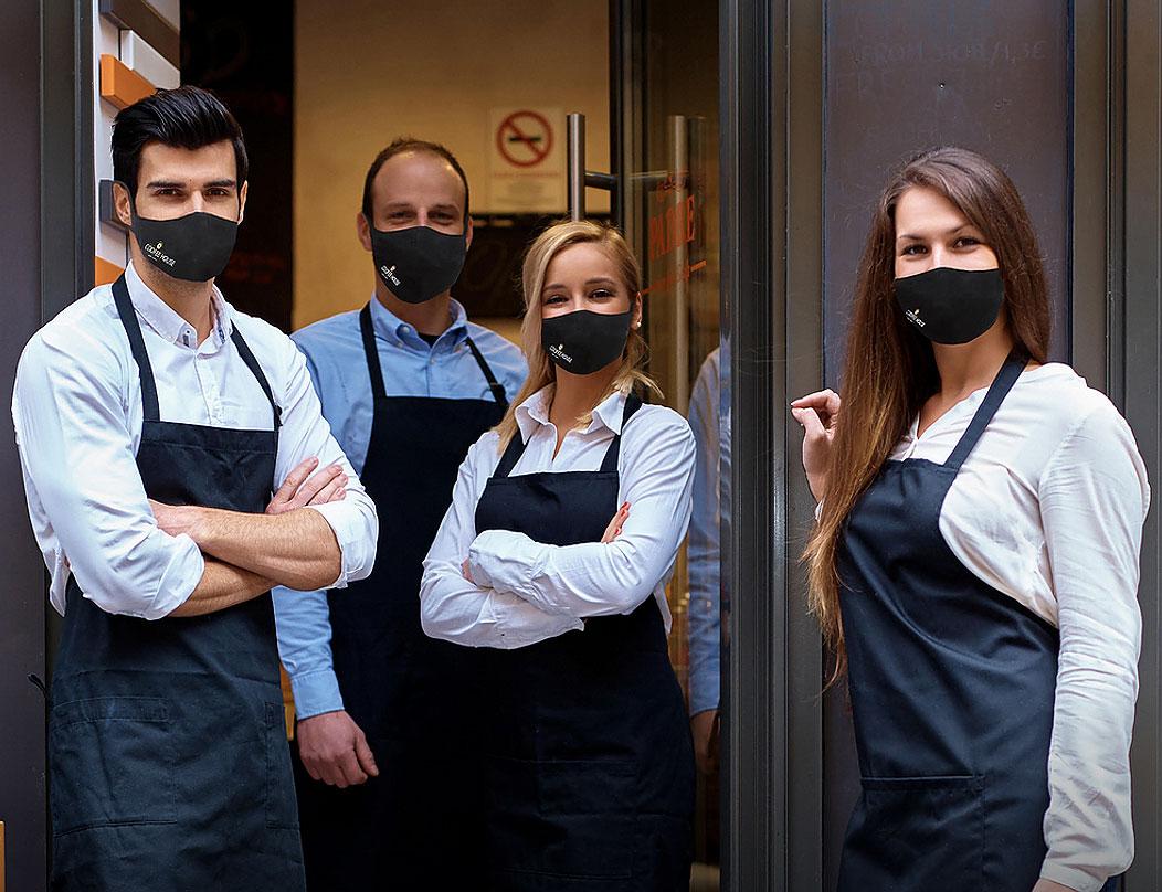Ultra flexible individuell bedruckte Mund und Nasenmasken