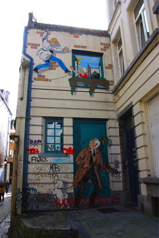 Fresque Ric Hochet - Bruxelles - No Mad Land