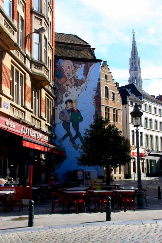 Fresque Frank Pé - Bruxelles - No Mad Land
