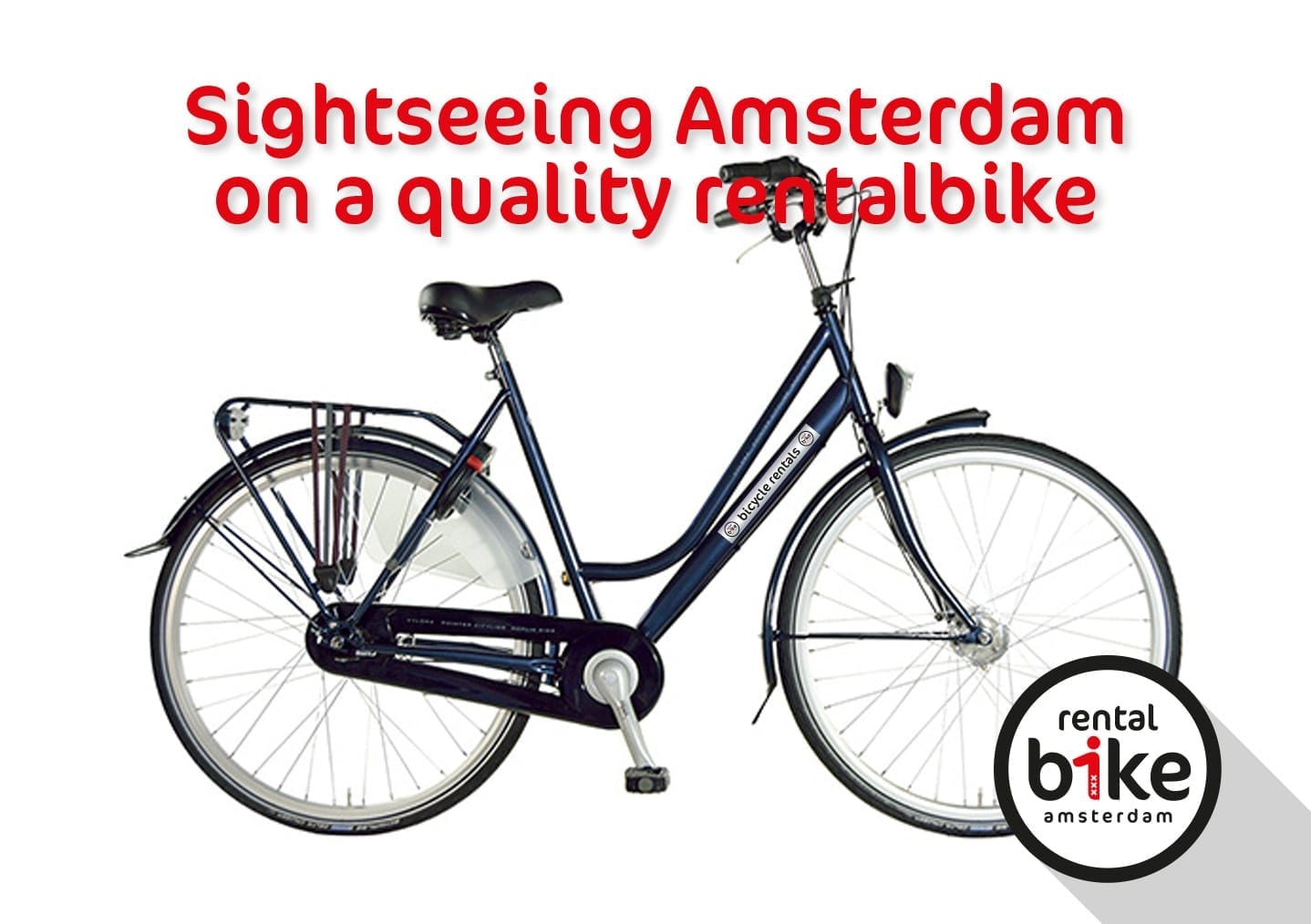 Sightseeing Amsterdam on a quality rentalbike