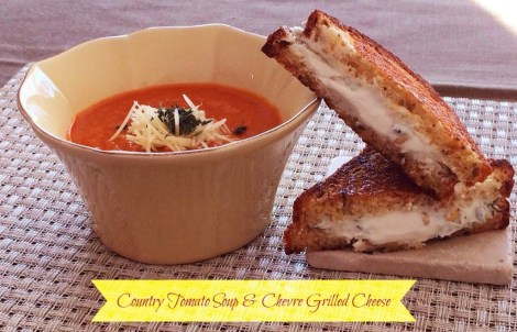 country tomato soup chevre grilled cheese