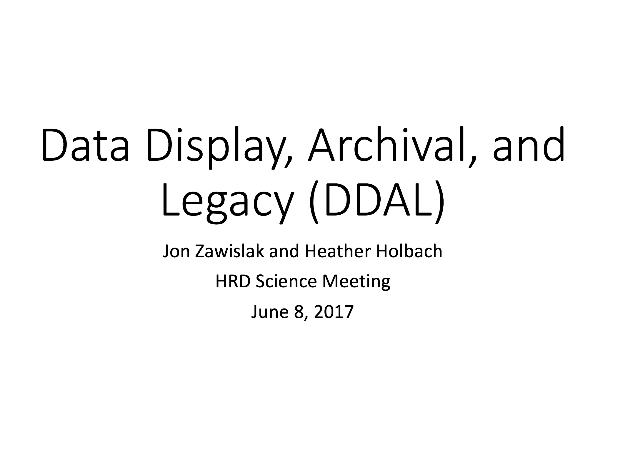 Hrd Monthly Science Meeting Of June Hurricane