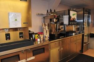Ice machine, coffe pot, microwave, refrigerator