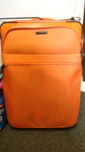 my orange suitcase