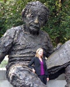 Posing with the Albert Einstein statue on my first day as an Einstein Fellow in Washington DC.