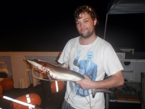 Daniel, Scientist, holding a silky shark
